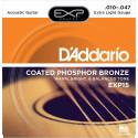 D'Addario EXP15 Phosphore Bronze extra Light 10-47 - Jeu de cordes pour Guitare acoustique
