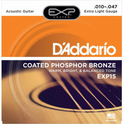 D'Addario EXP15 Phosphore Bronze extra Light 10-47 - Jeu de cordes pour Guitare acoustique