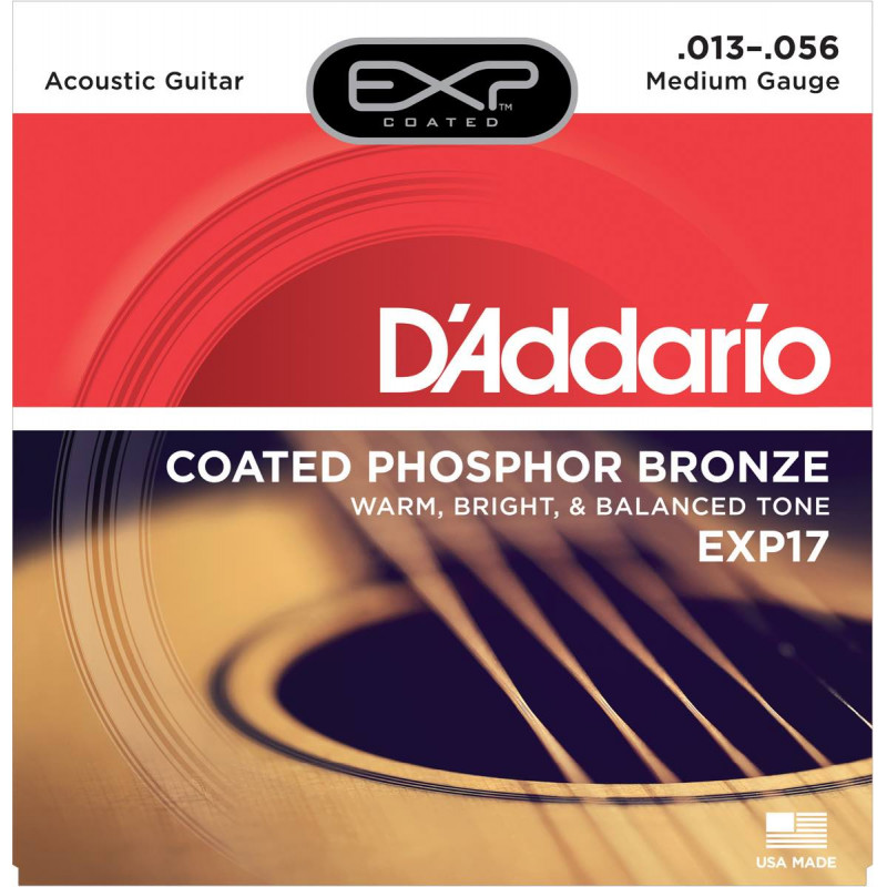 D'Addario EXP17 medium Light 13-56 - Jeu de cordes Guitare acoustique