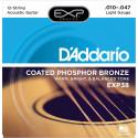 D'Addario EXP38 Light 10-47 9-47 - Jeu de 12 cordes Guitare acoustique