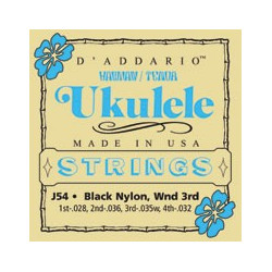 D'Addario J54 - Jeu de cordes Ukulele ténor Nylon 28-32