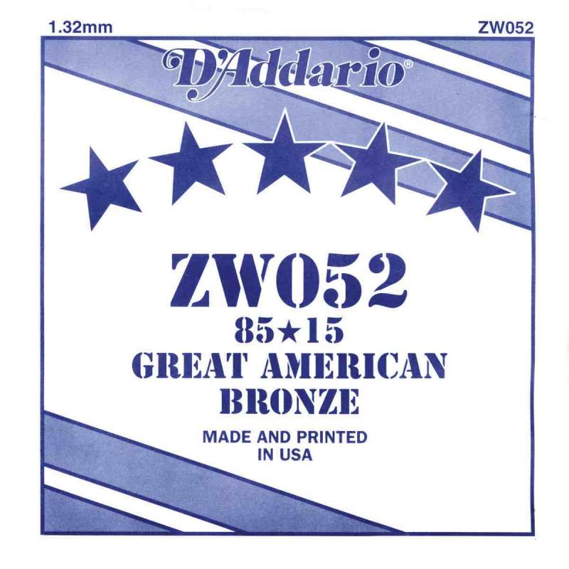 Corde au détail D'Addario pour guitare acoustique 052 85/15 Bronze - ZW052