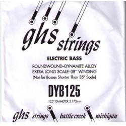 Corde au détail pour guitare basse - 125 - GHS DYB125