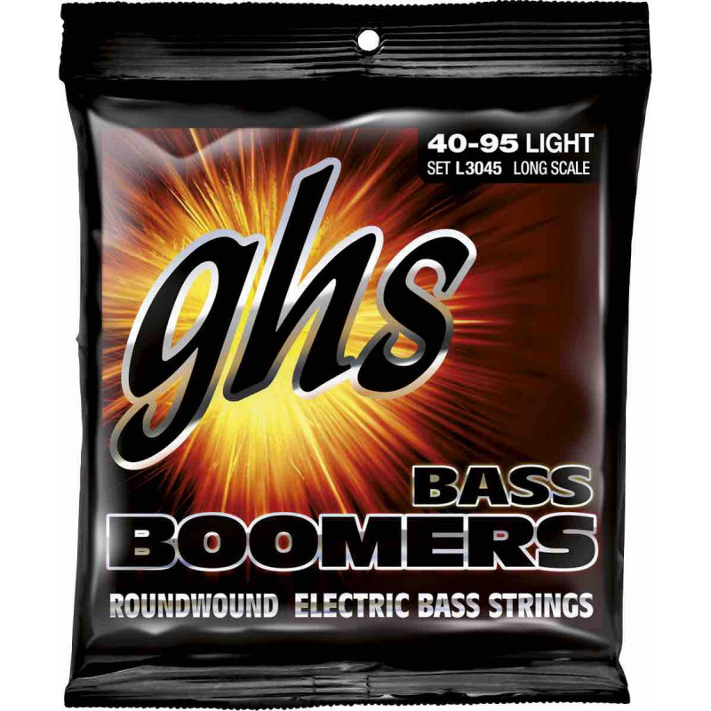 GHS 3045L - Jeu de cordes Light guitare basse E95-A75-D55-G40