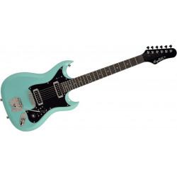 Hagstrom HII Retroscape - Bleu ciel vintage - Guitare électrique