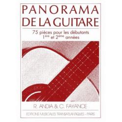 Méthode Panorama de la guitare Volume 1 - Fayance